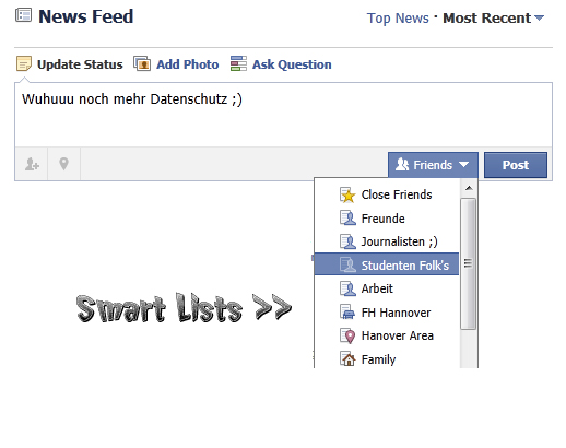 smart lists facebook Facebook mit neuen Features