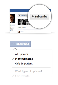 subscribe facebook Facebook mit neuen Features